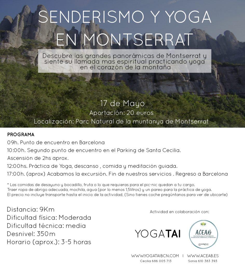 senderismo yoga montserrat meditacion